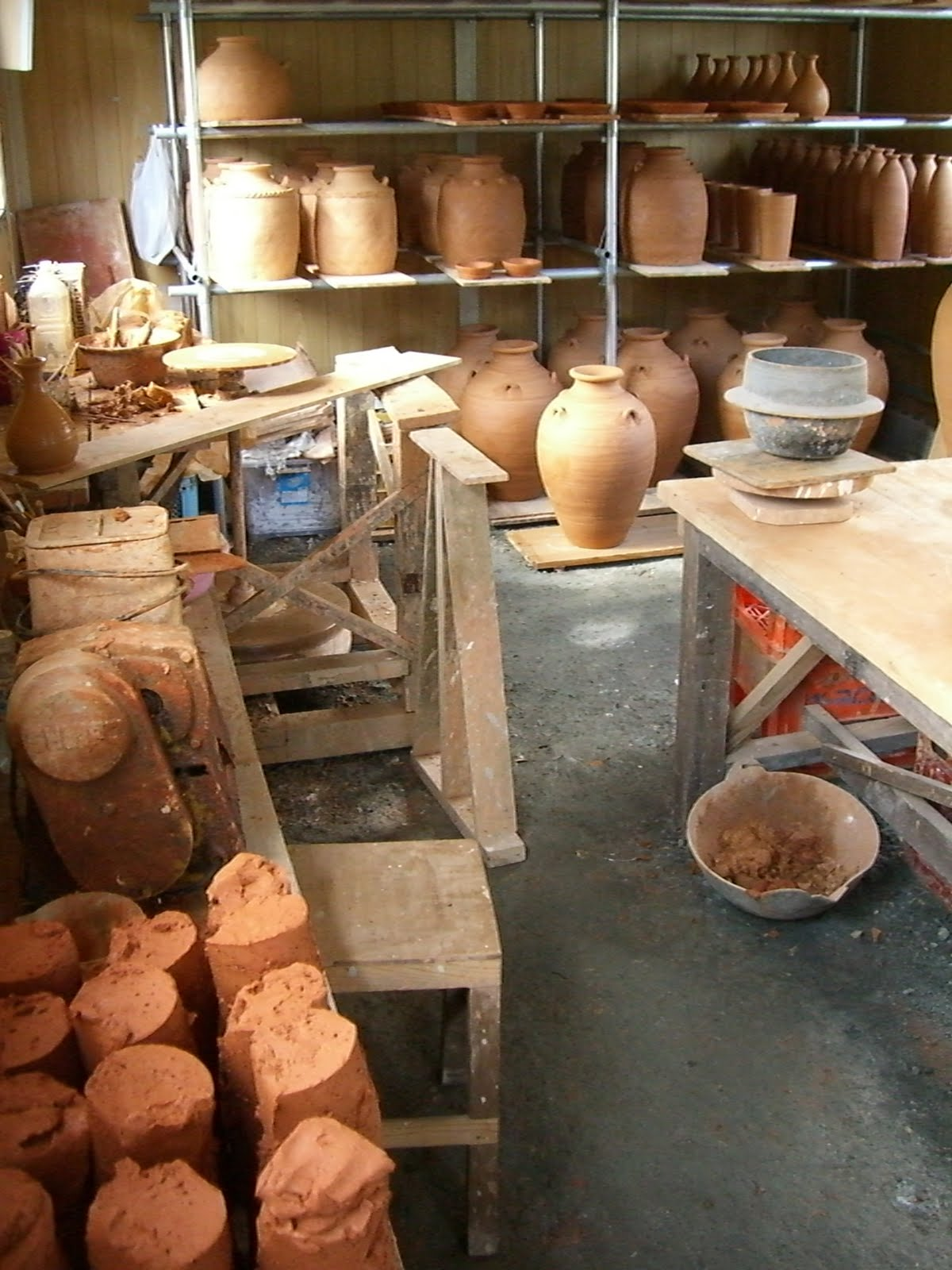 陶芸作業場