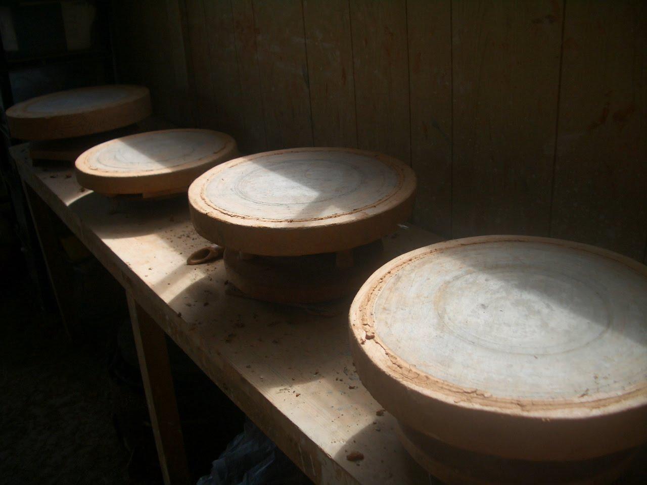陶芸のロクロ